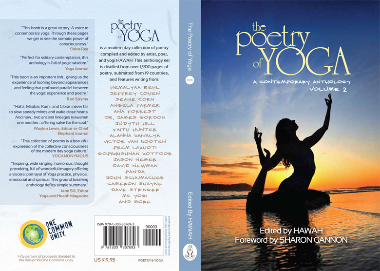 Poetry Book Cover Generator : Poetry of yoga vol cover spread